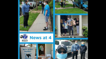 Tune into ABC7 News tonight at 4:15 pm to see Director of Student and Community Wellness, Frankie Engelking, Director of Community Inclusion and External Relations, Bobby Edwards, and the Mustang Blue Bus, make the rounds to pick up meals for Manna Food Center from our #McLeanSchool community members. ⁠ ⁠ #DistanceLearning #ABC7News