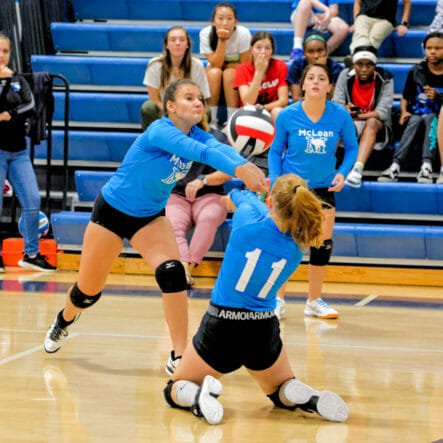McLean girls varsity volleyball game