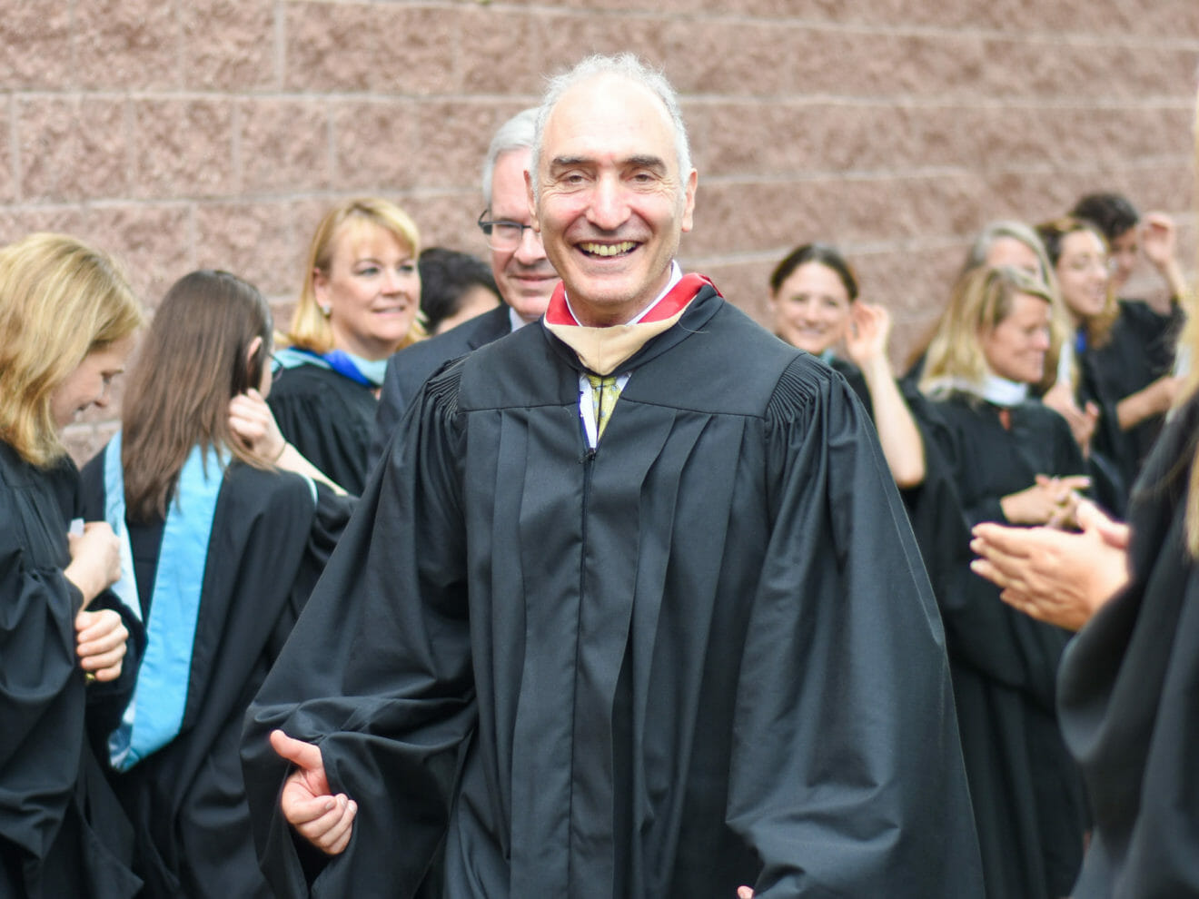Mike Saxenian, Head of McLean School, in robes for commencement