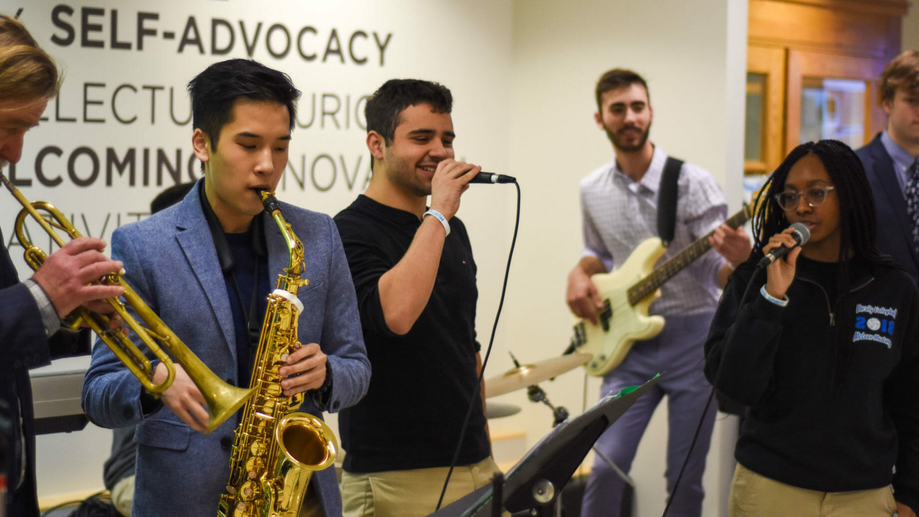 Students Performing Jazz Music