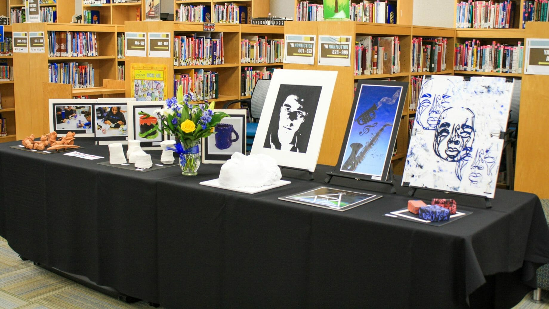 Student Art Table