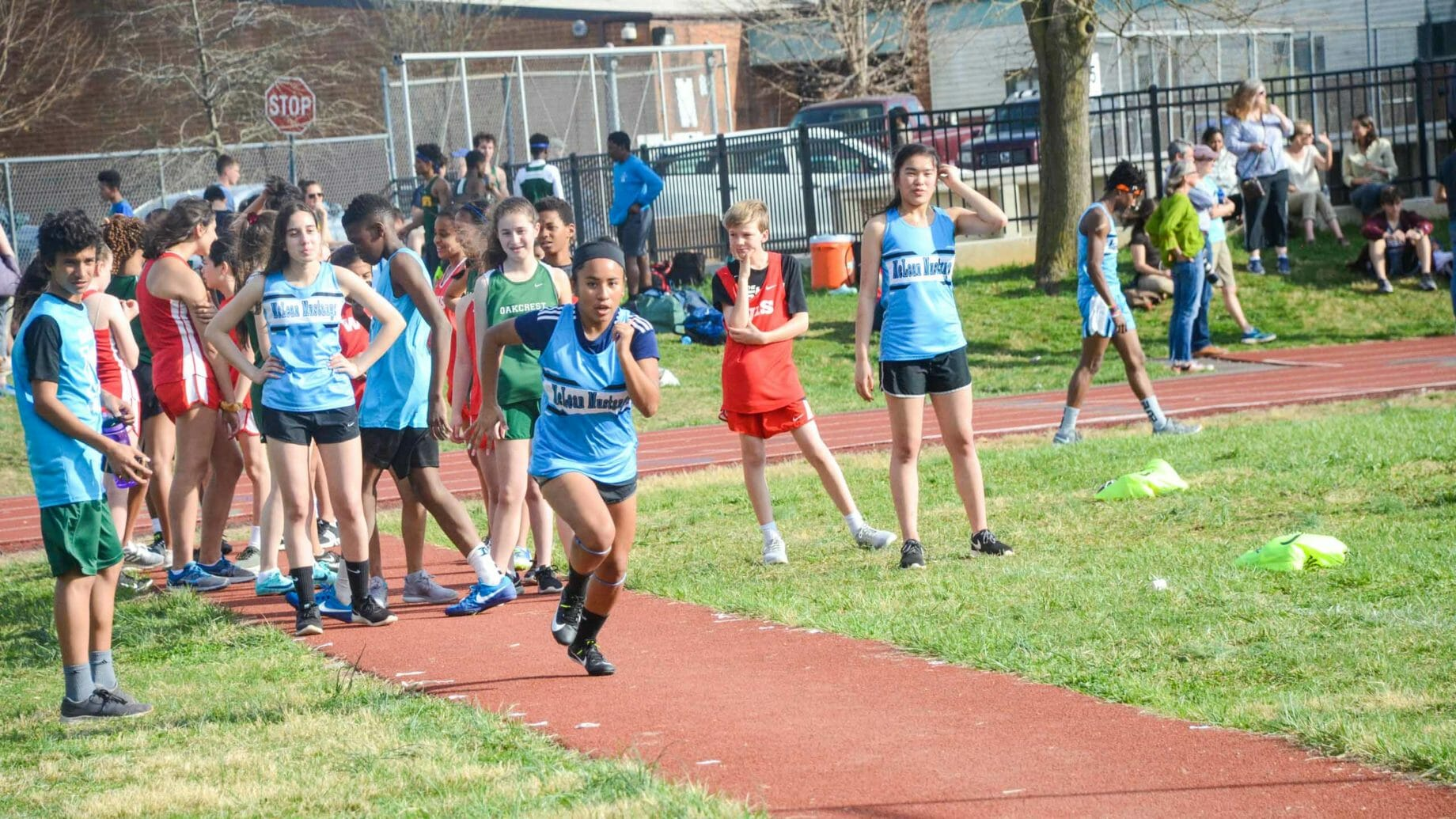 Students Running Track