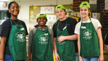 Students Working Food Drive