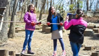 Young McLean Students Working Outdoors