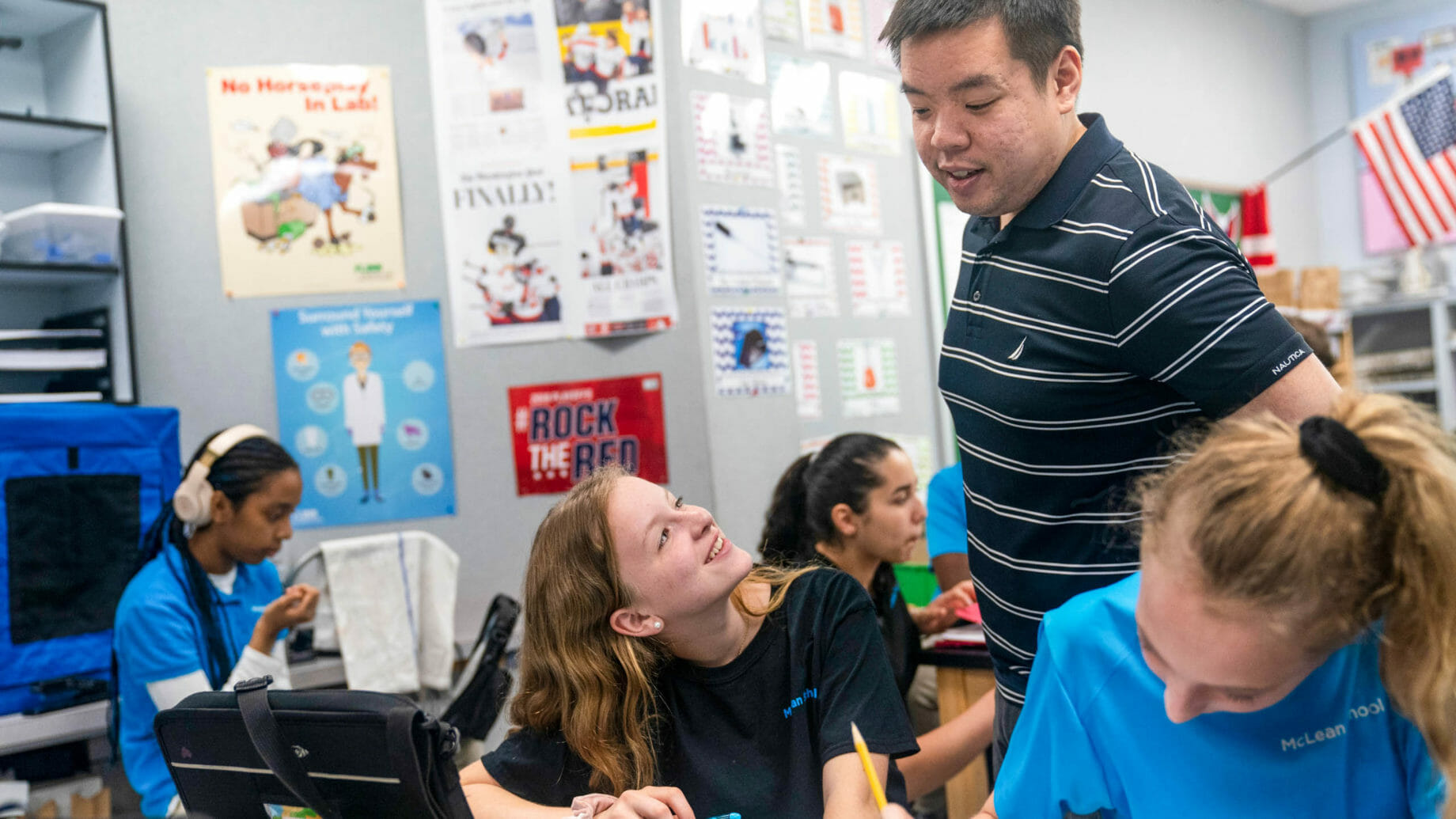 Mr. Tran Teaching Students in Class