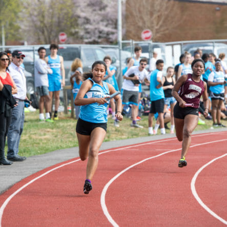 McLean varsity track and field runners on track